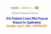 Pediatric Research Center Pilot Grants for 2016 thumbnail Photo